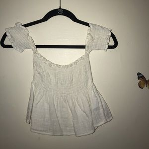 Brandy Melville white off the shoulder tube top